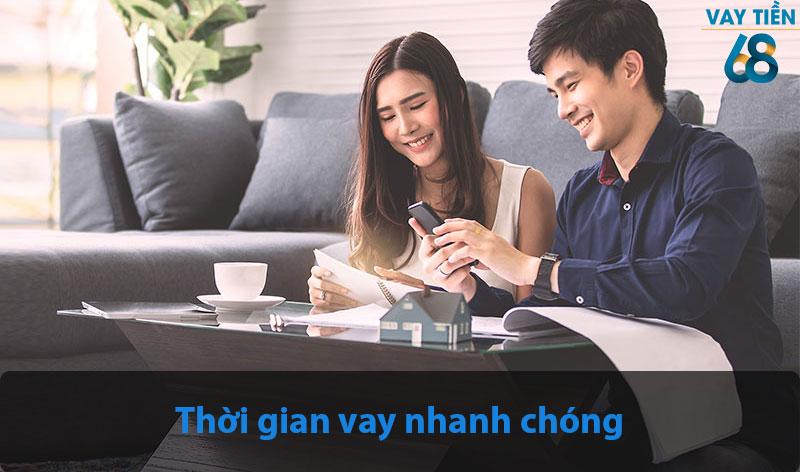 Thời gian nhận khoản vay khi đăng ký dịch vụ vay tiền nhanh của Vay Tiền 68 rất nhanh chóng
