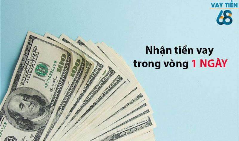 Trong vòng 1 ngày là khách hàng có thể nhận được tiền