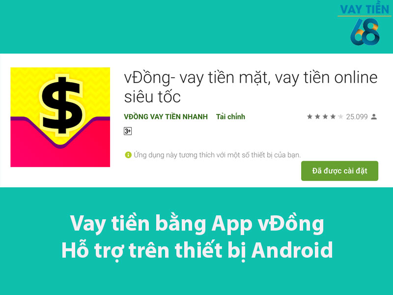 App vay tiền vĐồng hỗ trợ trên thiết bị Android