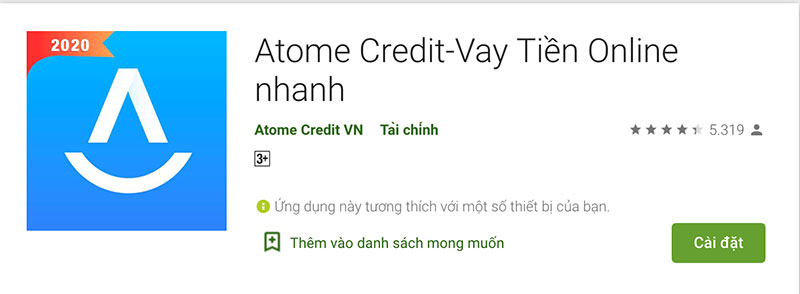 App vay tiền Atome